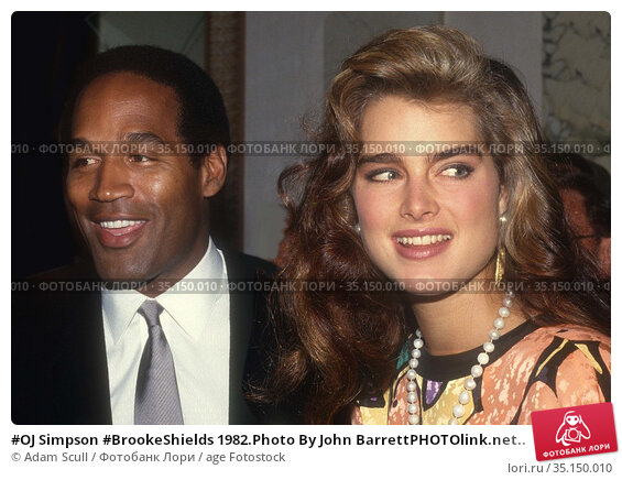 #OJ Simpson #BrookeShields 1982.Photo By John BarrettPHOTOlink.net.. Редакционное фото, фотограф Adam Scull / age Fotostock / Фотобанк Лори