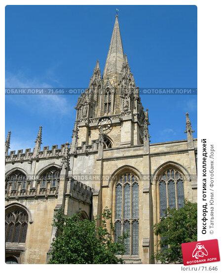 Купить «Оксфорд, готика колледжей», эксклюзивное фото № 71646, снято 19 августа 2006 г. (c) Татьяна Юни / Фотобанк Лори