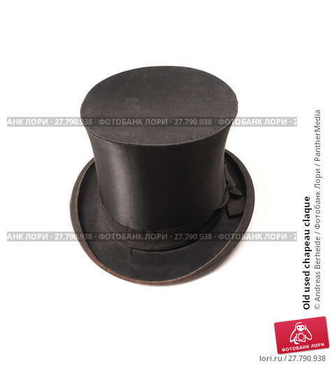 Купить «Old used chapeau claque», фото № 27790938, снято 16 октября 2018 г. (c) PantherMedia / Фотобанк Лори