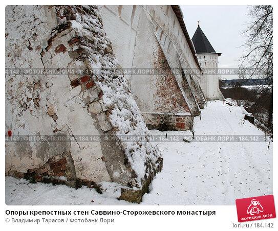 Опоры крепостных стен Саввино-Сторожевского монастыря, фото № 184142, снято 21 ноября 2007 г. (c) Владимир Тарасов / Фотобанк Лори