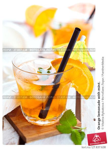 Купить «Orange lemonade with mint.», фото № 27837638, снято 19 октября 2018 г. (c) PantherMedia / Фотобанк Лори