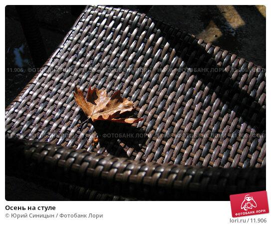 Осень на стуле, фото № 11906, снято 24 сентября 2006 г. (c) Юрий Синицын / Фотобанк Лори