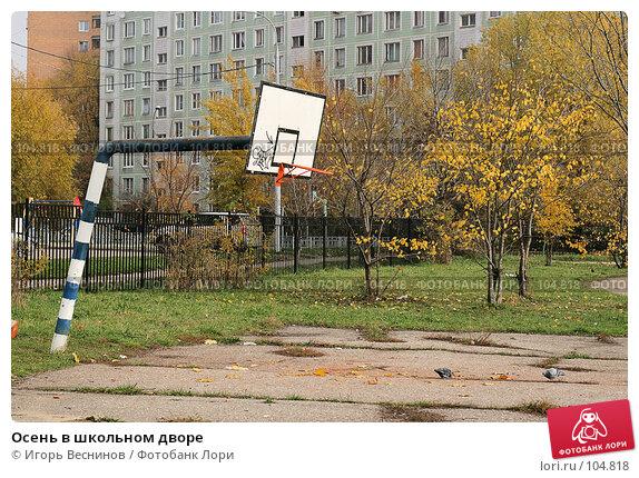 Осень в школьном дворе, фото № 104818, снято 27 октября 2016 г. (c) Игорь Веснинов / Фотобанк Лори