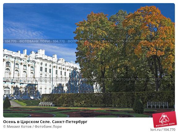Купить «Осень в Царском Селе. Санкт-Петербург», фото № 104770, снято 23 апреля 2018 г. (c) Михаил Котов / Фотобанк Лори