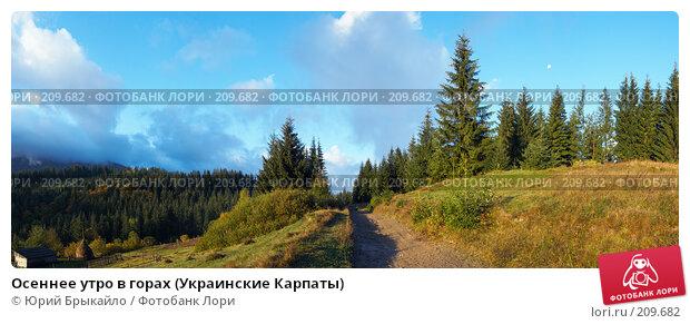 Осеннее утро в горах (Украинские Карпаты), фото № 209682, снято 25 сентября 2017 г. (c) Юрий Брыкайло / Фотобанк Лори