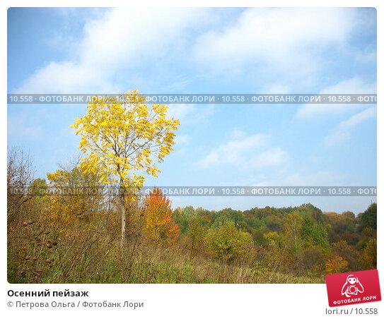 Осенний пейзаж, фото № 10558, снято 5 октября 2006 г. (c) Петрова Ольга / Фотобанк Лори