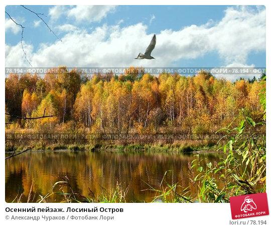 Осенний пейзаж. Лосиный Остров, фото № 78194, снято 9 октября 2005 г. (c) Александр Чураков / Фотобанк Лори