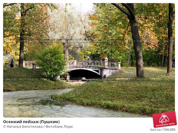 Осенний пейзаж (Пушкин), фото № 194090, снято 23 сентября 2007 г. (c) Наталья Белотелова / Фотобанк Лори