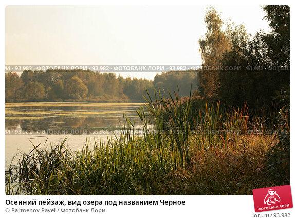 Осенний пейзаж, вид озера под названием Черное, фото № 93982, снято 30 сентября 2007 г. (c) Parmenov Pavel / Фотобанк Лори