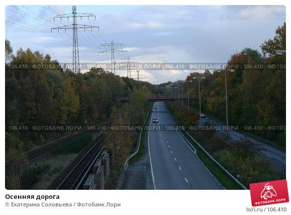 Осенняя дорога, фото № 106410, снято 30 октября 2007 г. (c) Екатерина Соловьева / Фотобанк Лори