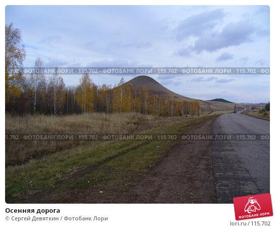 Осенняя дорога, фото № 115702, снято 16 октября 2007 г. (c) Сергей Девяткин / Фотобанк Лори