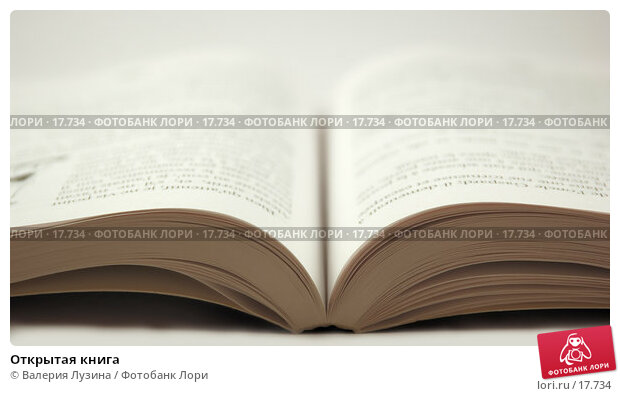 Открытая книга, фото № 17734, снято 29 января 2007 г. (c) Валерия Потапова / Фотобанк Лори