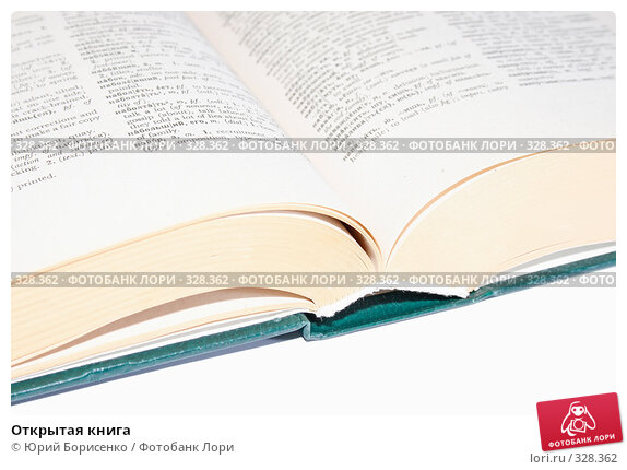 Открытая книга, фото № 328362, снято 16 июня 2008 г. (c) Юрий Борисенко / Фотобанк Лори