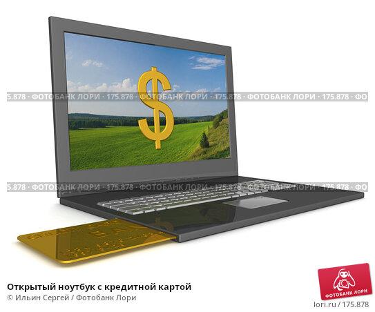 Открытый ноутбук с кредитной картой, иллюстрация № 175878 (c) Ильин Сергей / Фотобанк Лори