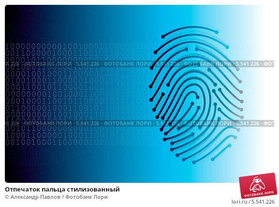 Купить «Отпечаток пальца стилизованный», эксклюзивная иллюстрация № 5541226 (c) Александр Павлов / Фотобанк Лори