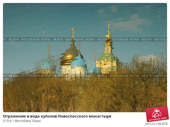 Отражение в воде куполов Новоспасского монастыря, фото № 68874, снято 30 марта 2007 г. (c) Fro / Фотобанк Лори