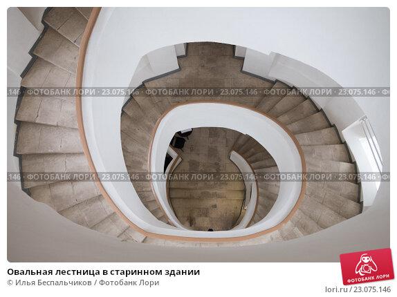 Овальная лестница в старинном здании. Стоковое фото, фотограф Илья Беспальчиков / Фотобанк Лори