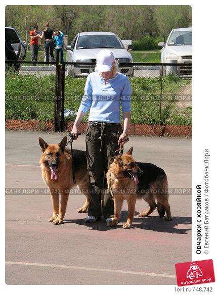 Купить «Овчарки с хозяйкой», фото № 48742, снято 19 мая 2007 г. (c) Евгений Батраков / Фотобанк Лори