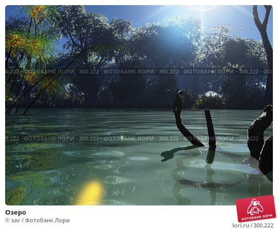 Купить «Озеро», иллюстрация № 300222 (c) sav / Фотобанк Лори