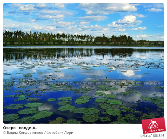 Озеро - полдень, фото № 188346, снято 21 января 2017 г. (c) Вадим Кондратенков / Фотобанк Лори