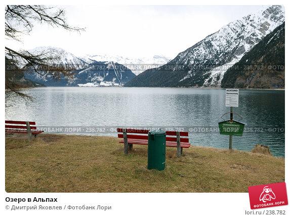 Озеро в Альпах, фото № 238782, снято 6 февраля 2008 г. (c) Дмитрий Яковлев / Фотобанк Лори