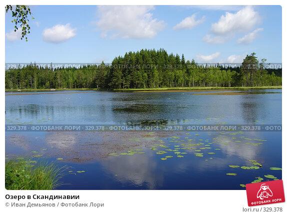 Озеро в Скандинавии, фото № 329378, снято 20 июля 2004 г. (c) Иван Демьянов / Фотобанк Лори