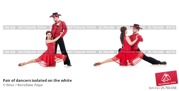 Pair of dancers isolated on the white, фото № 25760658, снято 2 декабря 2012 г. (c) Elnur / Фотобанк Лори