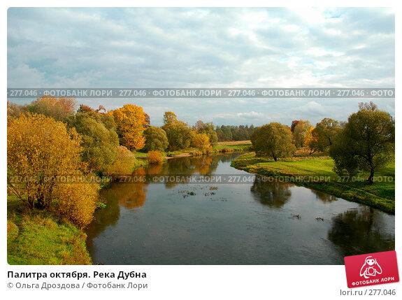 Палитра октября. Река Дубна, фото № 277046, снято 9 октября 2004 г. (c) Ольга Дроздова / Фотобанк Лори