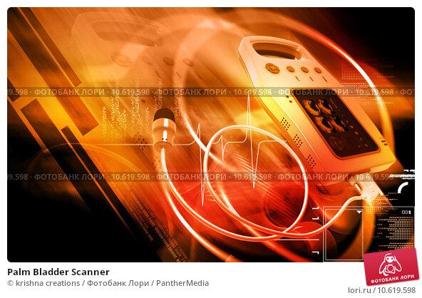 Palm Bladder Scanner. Стоковое фото, фотограф krishna creations / PantherMedia / Фотобанк Лори