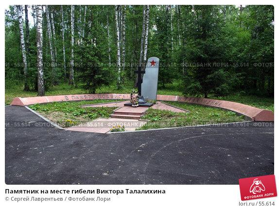 Памятник на месте гибели Виктора Талалихина, фото № 55614, снято 23 июня 2007 г. (c) Сергей Лаврентьев / Фотобанк Лори