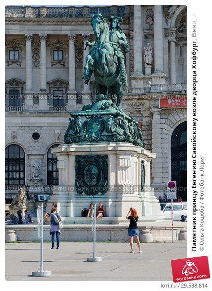 Купить «Памятник принцу Евгению Савойскому возле дворца Хофбург, Вена, Австрия», фото № 29538814, снято 17 сентября 2018 г. (c) Ольга Коцюба / Фотобанк Лори