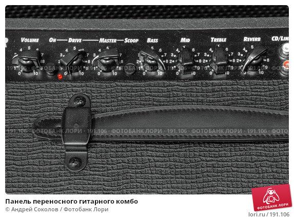 Панель переносного гитарного комбо, фото № 191106, снято 31 марта 2017 г. (c) Андрей Соколов / Фотобанк Лори