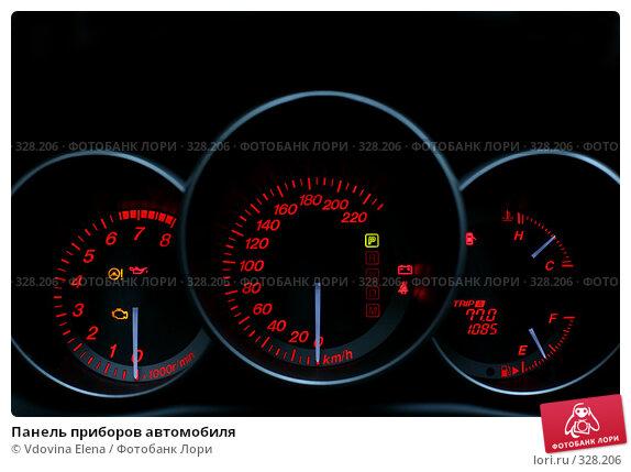 Панель приборов автомобиля, фото № 328206, снято 29 мая 2008 г. (c) Vdovina Elena / Фотобанк Лори