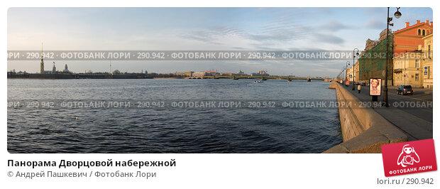 Панорама Дворцовой набережной, фото № 290942, снято 27 июля 2017 г. (c) Андрей Пашкевич / Фотобанк Лори