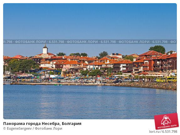 Купить «Панорама города Несебра, Болгария», фото № 6531798, снято 21 июля 2014 г. (c) EugeneSergeev / Фотобанк Лори