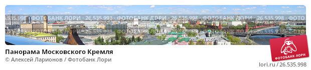 Купить «Панорама Московского Кремля», фото № 26535998, снято 20 марта 2009 г. (c) Алексей Ларионов / Фотобанк Лори