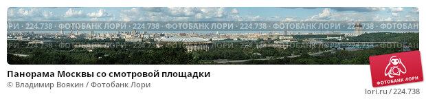 Панорама Москвы со смотровой площадки, фото № 224738, снято 25 января 2017 г. (c) Владимир Воякин / Фотобанк Лори