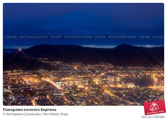 Панорама ночного Бергена, фото № 239006, снято 12 марта 2008 г. (c) Екатерина Соловьева / Фотобанк Лори