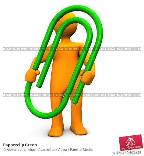 Papperclip Green. Стоковое фото, фотограф Alexander Limbach / PantherMedia / Фотобанк Лори