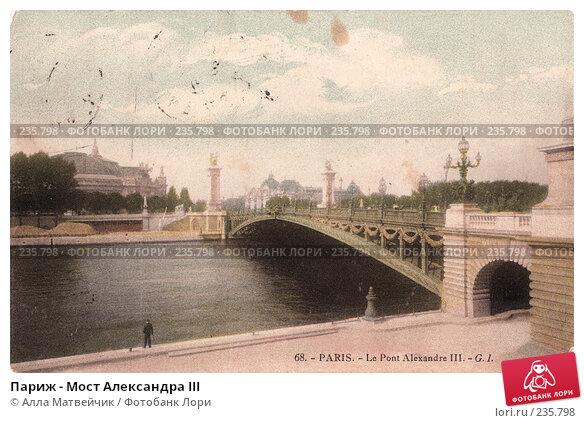 Париж - Мост Александра III, фото № 235798, снято 29 июня 2017 г. (c) Алла Матвейчик / Фотобанк Лори