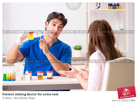 Купить «Patient visiting doctor for urine test», фото № 29671366, снято 7 августа 2018 г. (c) Elnur / Фотобанк Лори