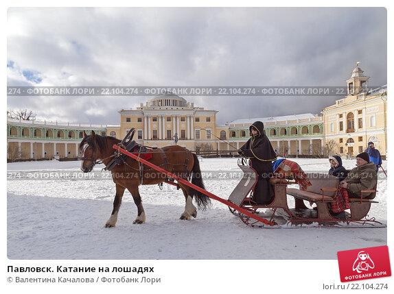 Купить «Павловск. Катание на лошадях», фото № 22104274, снято 23 февраля 2016 г. (c) Валентина Качалова / Фотобанк Лори
