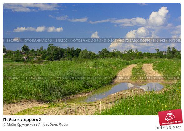 Пейзаж с дорогой, фото № 319802, снято 31 мая 2008 г. (c) Майя Крученкова / Фотобанк Лори
