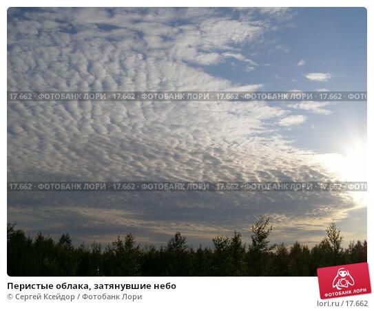 Перистые облака, затянувшие небо, фото № 17662, снято 22 июня 2006 г. (c) Сергей Ксейдор / Фотобанк Лори