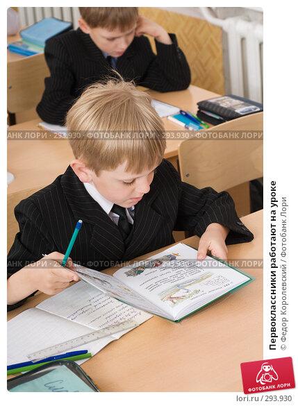 Первоклассники работают на уроке, фото № 293930, снято 14 мая 2008 г. (c) Федор Королевский / Фотобанк Лори