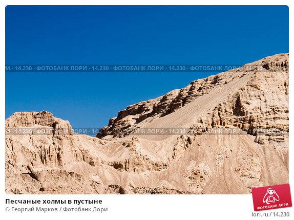 Песчаные холмы в пустыне, фото № 14230, снято 2 июля 2006 г. (c) Георгий Марков / Фотобанк Лори