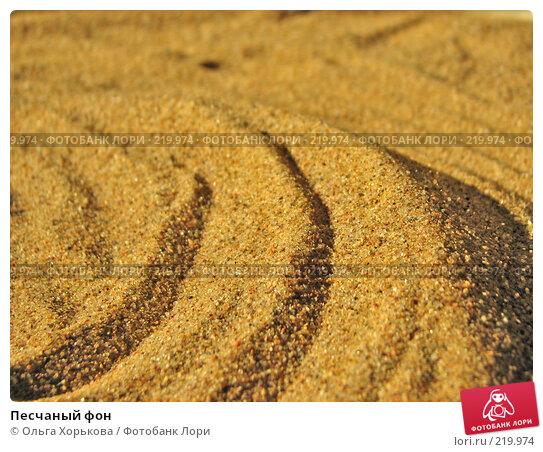 Песчаный фон, фото № 219974, снято 23 апреля 2007 г. (c) Ольга Хорькова / Фотобанк Лори