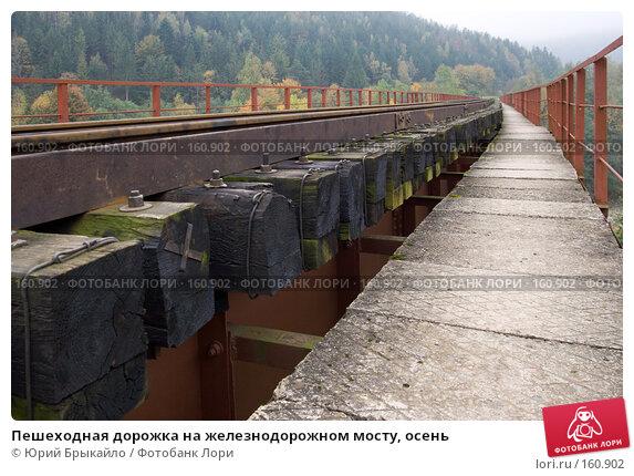 Пешеходная дорожка на железнодорожном мосту, осень, фото № 160902, снято 4 октября 2007 г. (c) Юрий Брыкайло / Фотобанк Лори