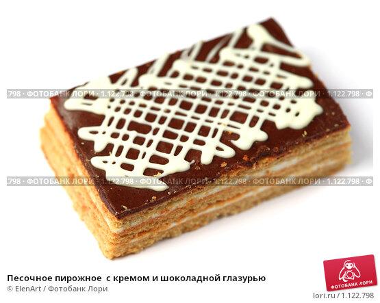 Песочное пирожное с глазурью рецепт с фото