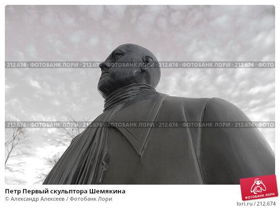 Петр Первый скульптора Шемякина, эксклюзивное фото № 212674, снято 24 марта 2006 г. (c) Александр Алексеев / Фотобанк Лори